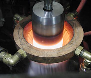 Induction hardening machine for shaft