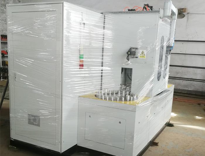 Oil pump shaft induction hardening machine