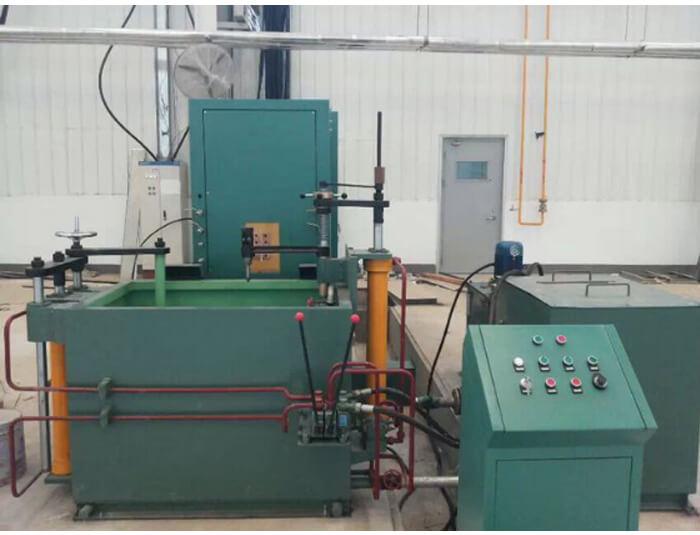 Universal hardening machine tool for horizontal shaft & gear