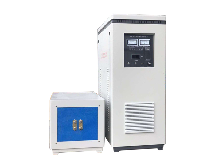 Induction heating machine for flat steel forging