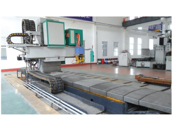 Guide rail induction hardening machine
